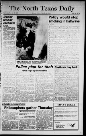 Primary view of object titled 'The North Texas Daily (Denton, Tex.), Vol. 72, No. 52, Ed. 1 Wednesday, November 30, 1988'.