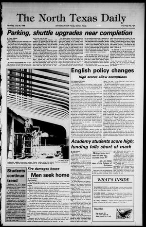Primary view of object titled 'The North Texas Daily (Denton, Tex.), Vol. 71, No. 121, Ed. 1 Thursday, July 28, 1988'.