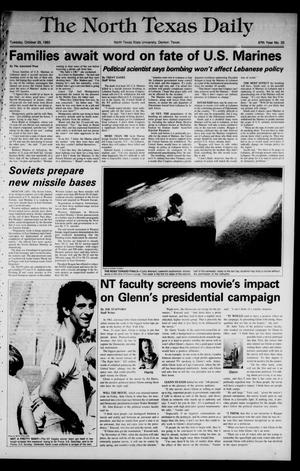 Primary view of object titled 'The North Texas Daily (Denton, Tex.), Vol. 67, No. 33, Ed. 1 Tuesday, October 25, 1983'.