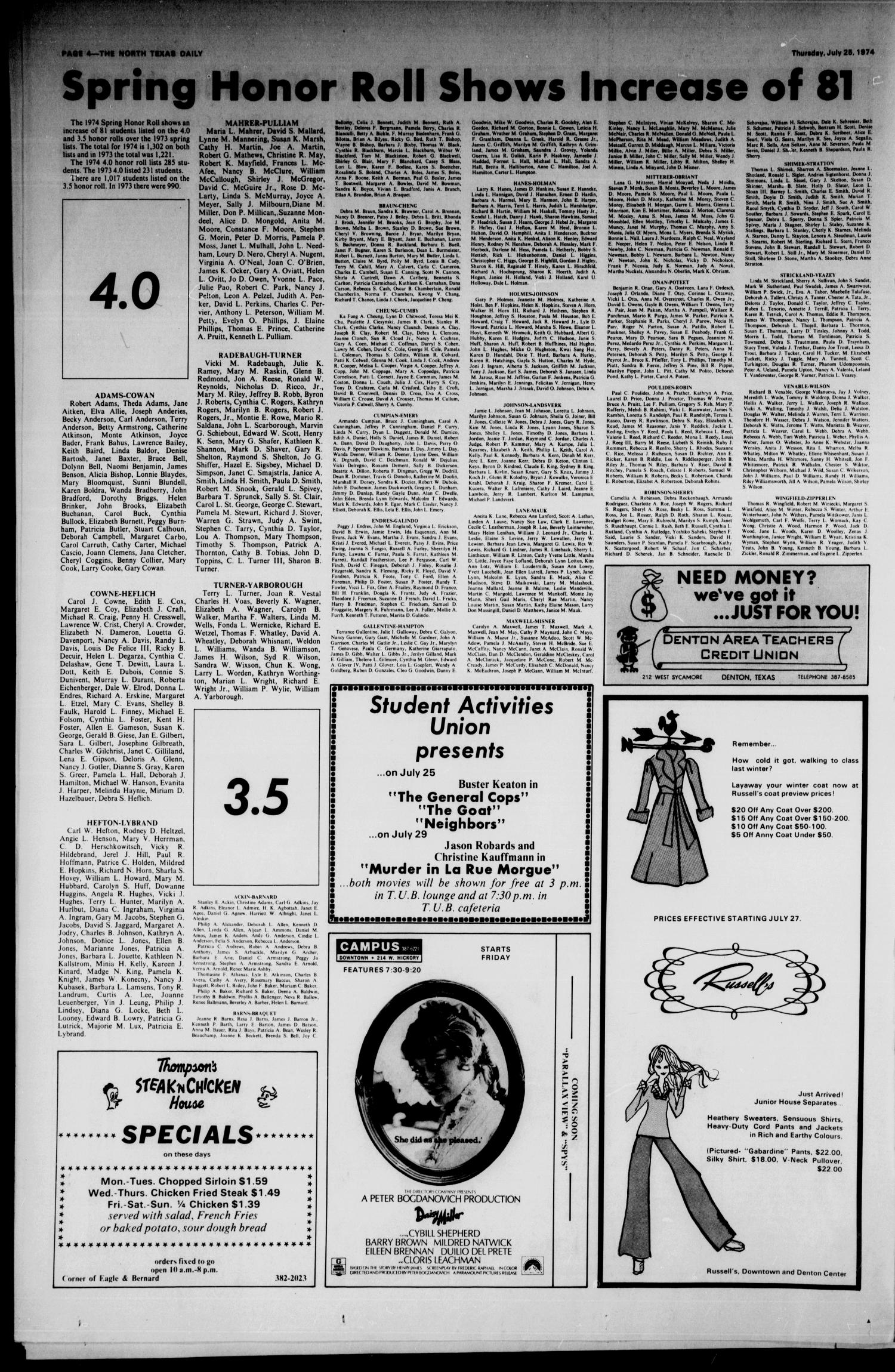 The North Texas Daily Denton Tex Vol 57 No 118 Ed 1