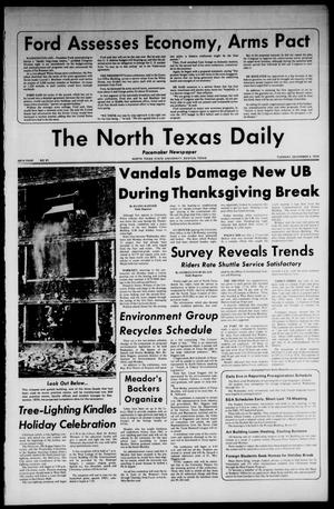 Primary view of object titled 'The North Texas Daily (Denton, Tex.), Vol. 58, No. 51, Ed. 1 Tuesday, December 3, 1974'.