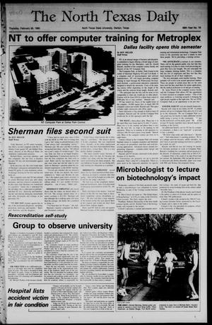 Primary view of object titled 'The North Texas Daily (Denton, Tex.), Vol. 68, No. 79, Ed. 1 Thursday, February 28, 1985'.