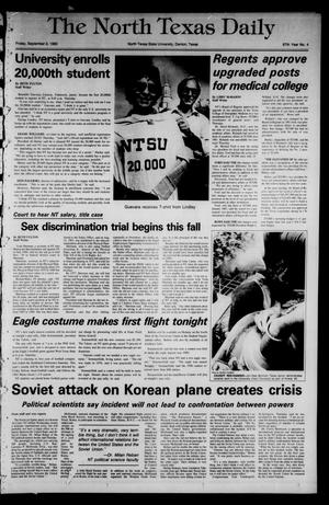 Primary view of object titled 'The North Texas Daily (Denton, Tex.), Vol. 67, No. 4, Ed. 1 Friday, September 2, 1983'.