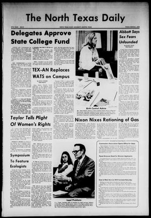 Primary view of object titled 'The North Texas Daily (Denton, Tex.), Vol. 57, No. 81, Ed. 1 Friday, March 1, 1974'.