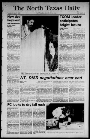 Primary view of object titled 'The North Texas Daily (Denton, Tex.), Vol. 69, No. 55, Ed. 1 Tuesday, January 21, 1986'.