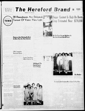 The Hereford Brand (Hereford, Tex.), Vol. 49, No. 45, Ed. 1 Thursday, November 10, 1949