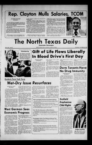 Primary view of object titled 'The North Texas Daily (Denton, Tex.), Vol. 58, No. 31, Ed. 1 Thursday, October 24, 1974'.