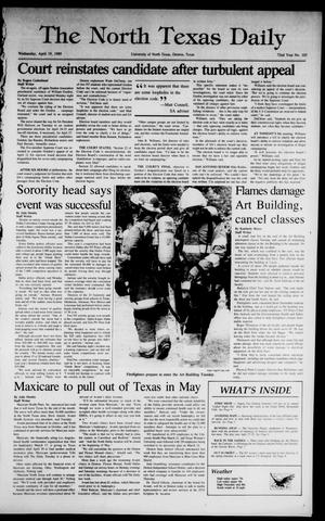 Primary view of object titled 'The North Texas Daily (Denton, Tex.), Vol. 72, No. 103, Ed. 1 Wednesday, April 19, 1989'.