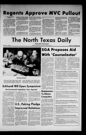 Primary view of object titled 'The North Texas Daily (Denton, Tex.), Vol. 58, No. 49, Ed. 1 Tuesday, November 26, 1974'.