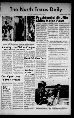 Primary view of object titled 'The North Texas Daily (Denton, Tex.), Vol. 58, No. 3, Ed. 1 Thursday, September 5, 1974'.
