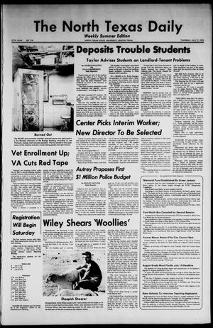 Primary view of object titled 'The North Texas Daily (Denton, Tex.), Vol. 57, No. 116, Ed. 1 Thursday, July 11, 1974'.