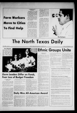 Primary view of object titled 'The North Texas Daily (Denton, Tex.), Vol. 57, No. 16, Ed. 1 Friday, September 28, 1973'.