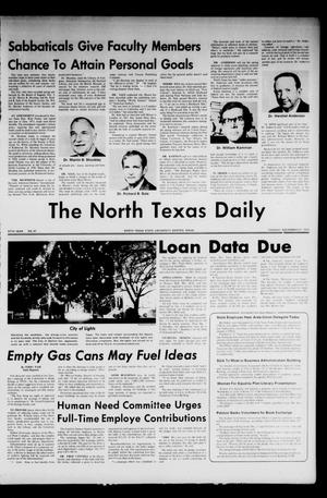 Primary view of object titled 'The North Texas Daily (Denton, Tex.), Vol. 57, No. 47, Ed. 1 Tuesday, November 27, 1973'.