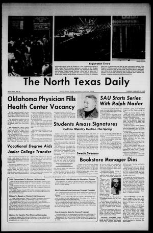 Primary view of object titled 'The North Texas Daily (Denton, Tex.), Vol. 58, No. 55, Ed. 1 Tuesday, January 21, 1975'.