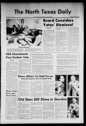 Primary view of object titled 'The North Texas Daily (Denton, Tex.), Vol. 57, No. 95, Ed. 1 Wednesday, April 3, 1974'.