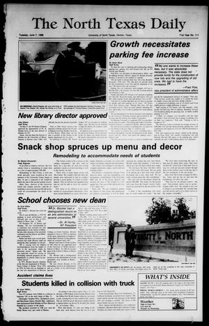 Primary view of object titled 'The North Texas Daily (Denton, Tex.), Vol. 71, No. 111, Ed. 1 Tuesday, June 7, 1988'.
