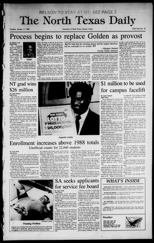 Primary view of object titled 'The North Texas Daily (Denton, Tex.), Vol. 72, No. 55, Ed. 1 Tuesday, January 17, 1989'.