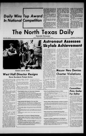 Primary view of object titled 'The North Texas Daily (Denton, Tex.), Vol. 58, No. 30, Ed. 1 Wednesday, October 23, 1974'.