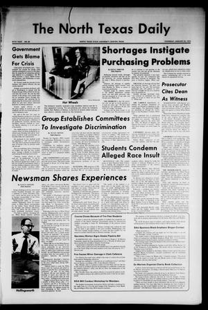 Primary view of object titled 'The North Texas Daily (Denton, Tex.), Vol. 57, No. 60, Ed. 1 Thursday, January 24, 1974'.