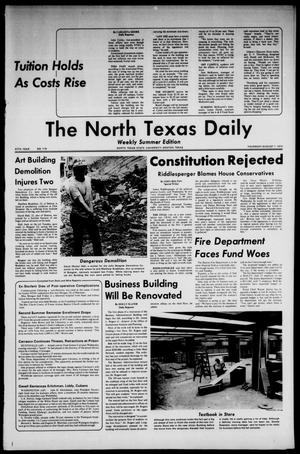 Primary view of object titled 'The North Texas Daily (Denton, Tex.), Vol. 57, No. 119, Ed. 1 Thursday, August 1, 1974'.