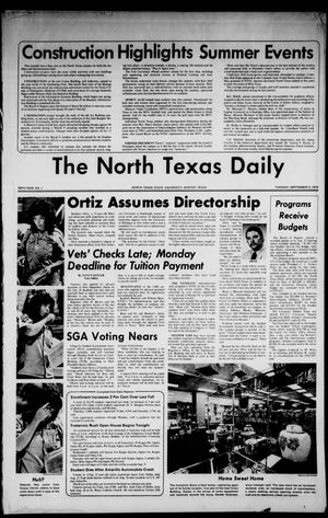 Primary view of object titled 'The North Texas Daily (Denton, Tex.), Vol. 58, No. 1, Ed. 1 Tuesday, September 3, 1974'.