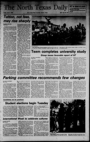 Primary view of object titled 'The North Texas Daily (Denton, Tex.), Vol. 68, No. 96, Ed. 1 Friday, April 5, 1985'.
