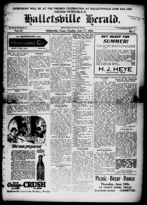 Primary view of object titled 'Semi-weekly Halletsville Herald. (Hallettsville, Tex.), Vol. 53, No. 7, Ed. 1 Tuesday, June 17, 1924'.