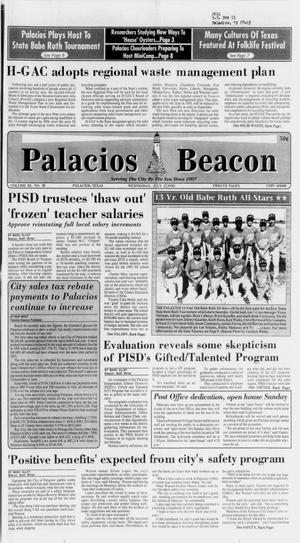Primary view of object titled 'Palacios Beacon (Palacios, Tex.), Vol. 85, No. 30, Ed. 1 Wednesday, July 22, 1992'.