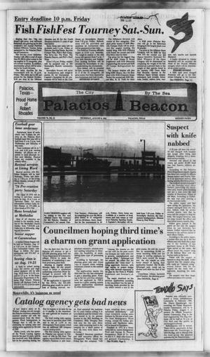 Primary view of object titled 'Palacios Beacon (Palacios, Tex.), Vol. 78, No. 32, Ed. 1 Thursday, August 8, 1985'.