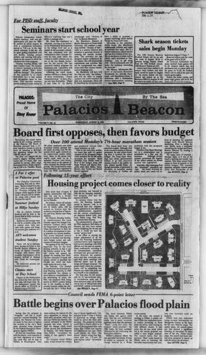 Primary view of object titled 'Palacios Beacon (Palacios, Tex.), Vol. 77, No. 33, Ed. 1 Wednesday, August 15, 1984'.