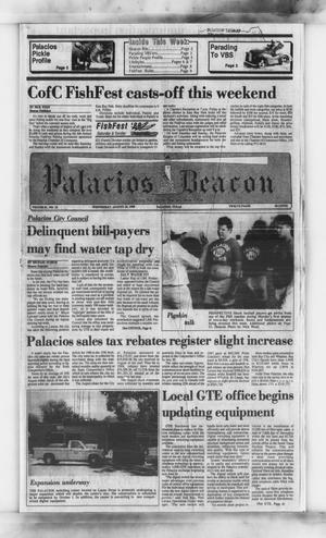 Primary view of object titled 'Palacios Beacon (Palacios, Tex.), Vol. 81, No. 32, Ed. 1 Wednesday, August 10, 1988'.