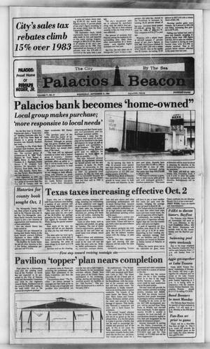 Primary view of object titled 'Palacios Beacon (Palacios, Tex.), Vol. 77, No. 37, Ed. 1 Wednesday, September 12, 1984'.