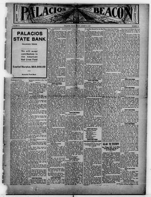 Primary view of object titled 'Palacios Beacon (Palacios, Tex.), Vol. 9, No. 31, Ed. 1 Friday, August 17, 1917'.