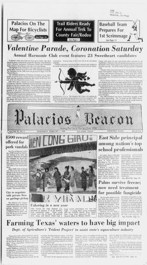 Primary view of object titled 'Palacios Beacon (Palacios, Tex.), Vol. 83, No. 6, Ed. 1 Wednesday, February 7, 1990'.