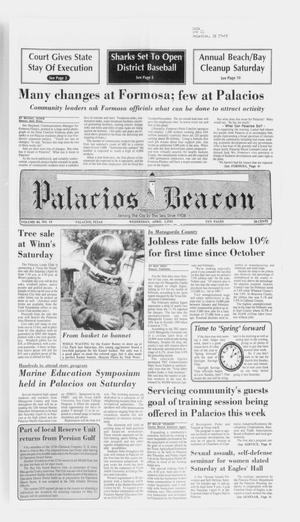 Primary view of object titled 'Palacios Beacon (Palacios, Tex.), Vol. 84, No. 14, Ed. 1 Wednesday, April 3, 1991'.