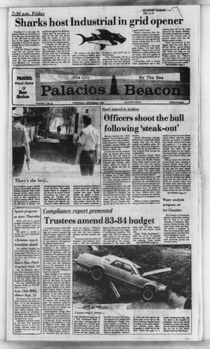 Primary view of object titled 'Palacios Beacon (Palacios, Tex.), Vol. 77, No. 36, Ed. 1 Wednesday, September 5, 1984'.