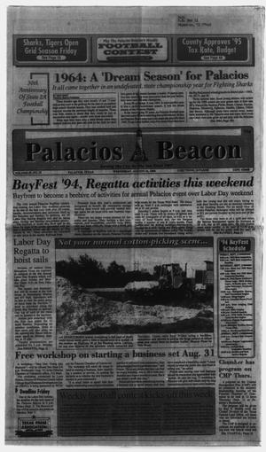 Primary view of object titled 'Palacios Beacon (Palacios, Tex.), Vol. 87, No. 35, Ed. 1 Wednesday, August 31, 1994'.