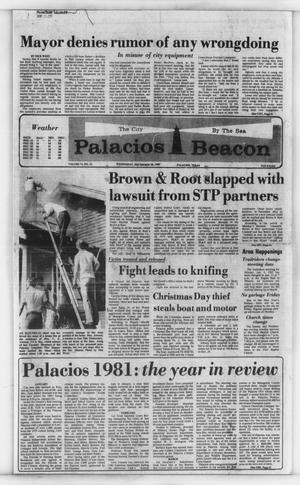 Primary view of object titled 'Palacios Beacon (Palacios, Tex.), Vol. 74, No. 52, Ed. 1 Wednesday, December 30, 1981'.