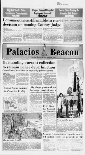 Primary view of object titled 'Palacios Beacon (Palacios, Tex.), Vol. 85, No. 50, Ed. 1 Wednesday, December 16, 1992'.