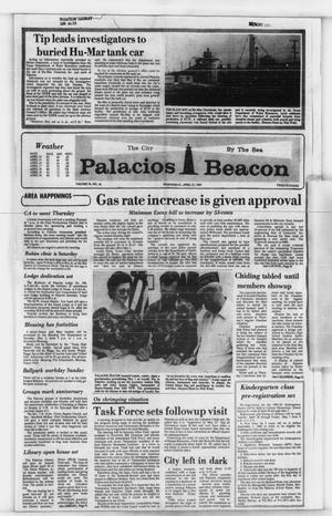 Primary view of object titled 'Palacios Beacon (Palacios, Tex.), Vol. 74, No. 16, Ed. 1 Wednesday, April 22, 1981'.