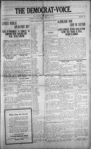Primary view of The Democrat-Voice. (Coleman, Tex.), Vol. 2, No. 40, Ed. 1 Friday, November 10, 1911