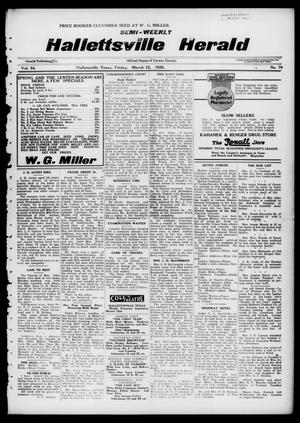 Primary view of object titled 'Semi-weekly Hallettsville Herald (Hallettsville, Tex.), Vol. 54, No. 79, Ed. 1 Friday, March 12, 1926'.