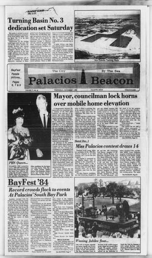 Primary view of object titled 'Palacios Beacon (Palacios, Tex.), Vol. 77, No. 45, Ed. 1 Wednesday, November 7, 1984'.