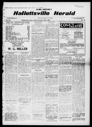 Primary view of object titled 'Semi-weekly Hallettsville Herald (Hallettsville, Tex.), Vol. 54, No. 45, Ed. 1 Friday, November 12, 1926'.