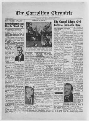 Primary view of The Carrollton Chronicle (Carrollton, Tex.), Vol. 54, No. 9, Ed. 1 Friday, January 24, 1958