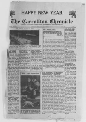 Primary view of object titled 'The Carrollton Chronicle (Carrollton, Tex.), Vol. 46TH YEAR, No. 8, Ed. 1 Friday, December 30, 1949'.