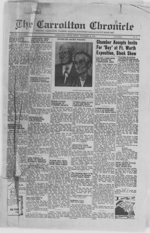 Primary view of object titled 'The Carrollton Chronicle (Carrollton, Tex.), Vol. 46TH YEAR, No. 6, Ed. 1 Friday, December 16, 1949'.
