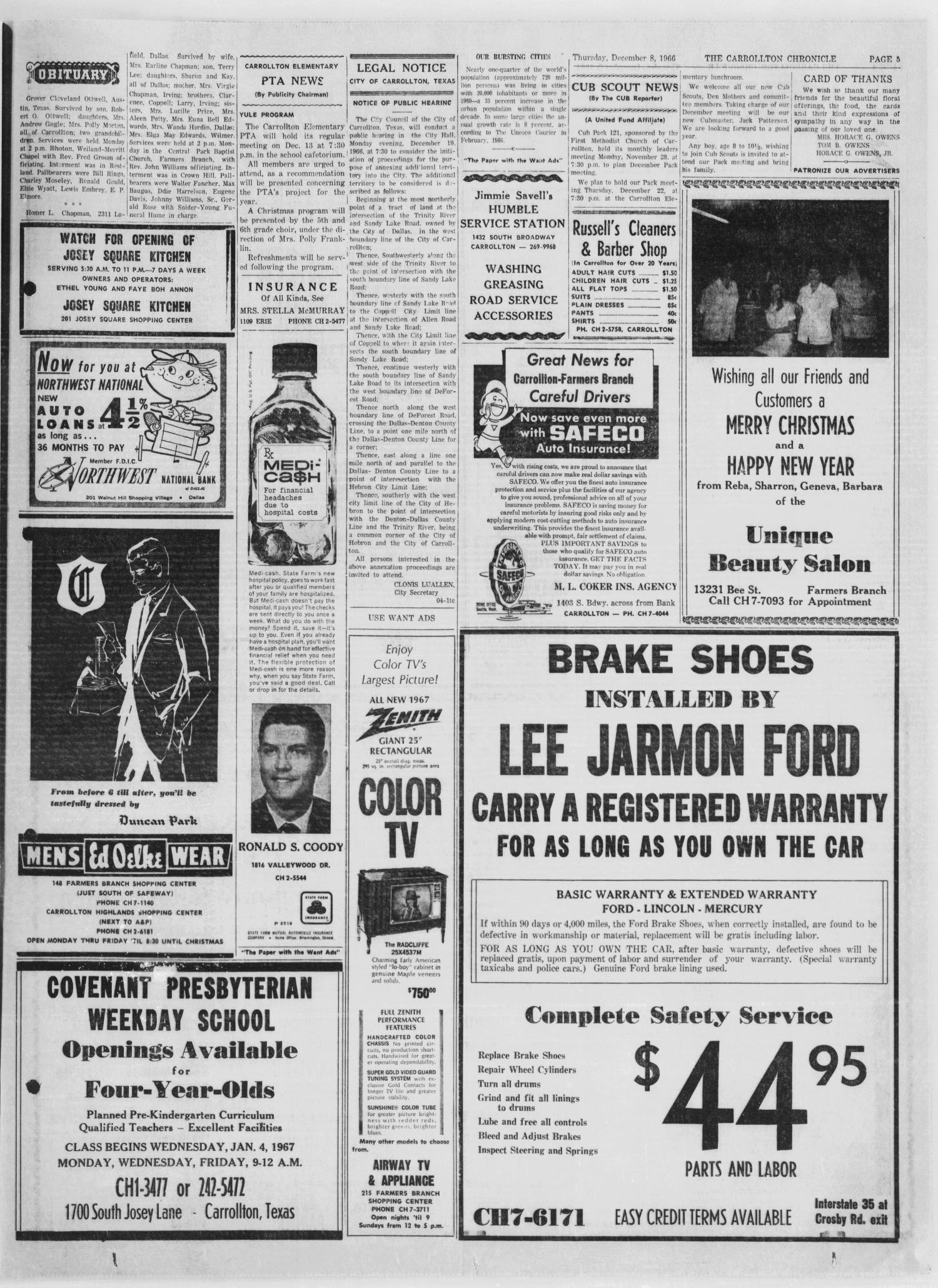 The Carrollton Chronicle (Carrollton, Tex.), Vol. 63, No. 4, Ed. 1 ...