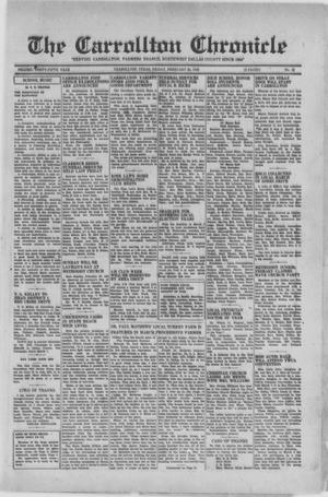 Primary view of object titled 'The Carrollton Chronicle (Carrollton, Tex.), Vol. FORTY-FIFTH YEAR, No. 16, Ed. 1 Friday, February 25, 1949'.