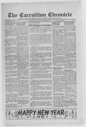 Primary view of object titled 'The Carrollton Chronicle (Carrollton, Tex.), Vol. 47TH YEAR, No. 9, Ed. 1 Friday, December 29, 1950'.
